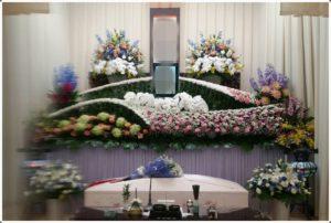 生野区 葬儀社 祭壇1